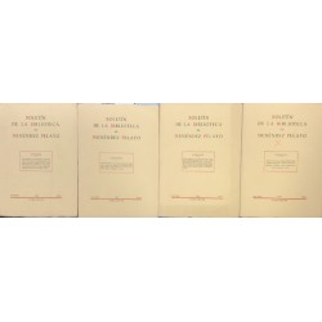 Boletín de la Biblioteca de Menéndez Pelayo Núms. 1 al 4