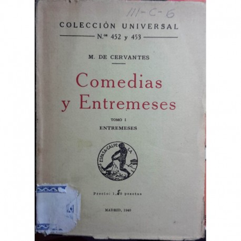 Comedias y Entremeses Tomo I - Entremeses