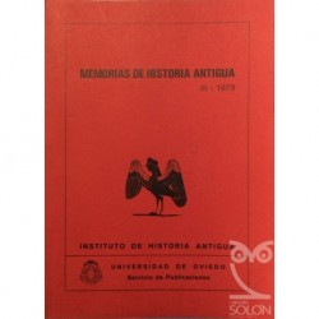 Memorias de Historia antigua III