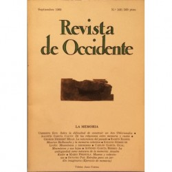 Revista de Occidente. La memoria