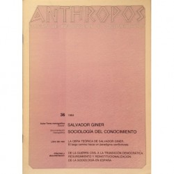 Anthropos. Nº 36 / 1984