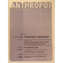 Anthropos. Nº 64 / 1986